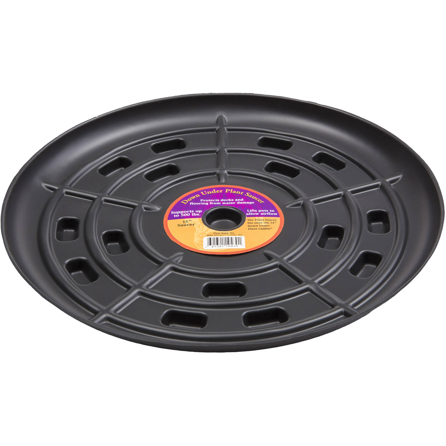 "Down Under Plant Caddie 51510 15"" Black Saucer"