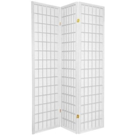 Legacy Decor 3 Panel Japanese Oriental Style Room Screen Divider White Color ()