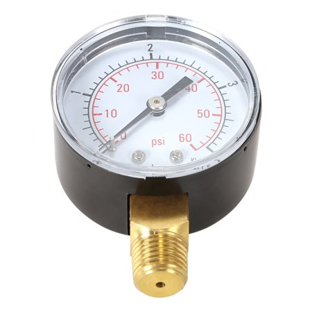 Pool Filter Water Pressure Dial Hydraulic Pressure Gauge Meter Manometer 1/4