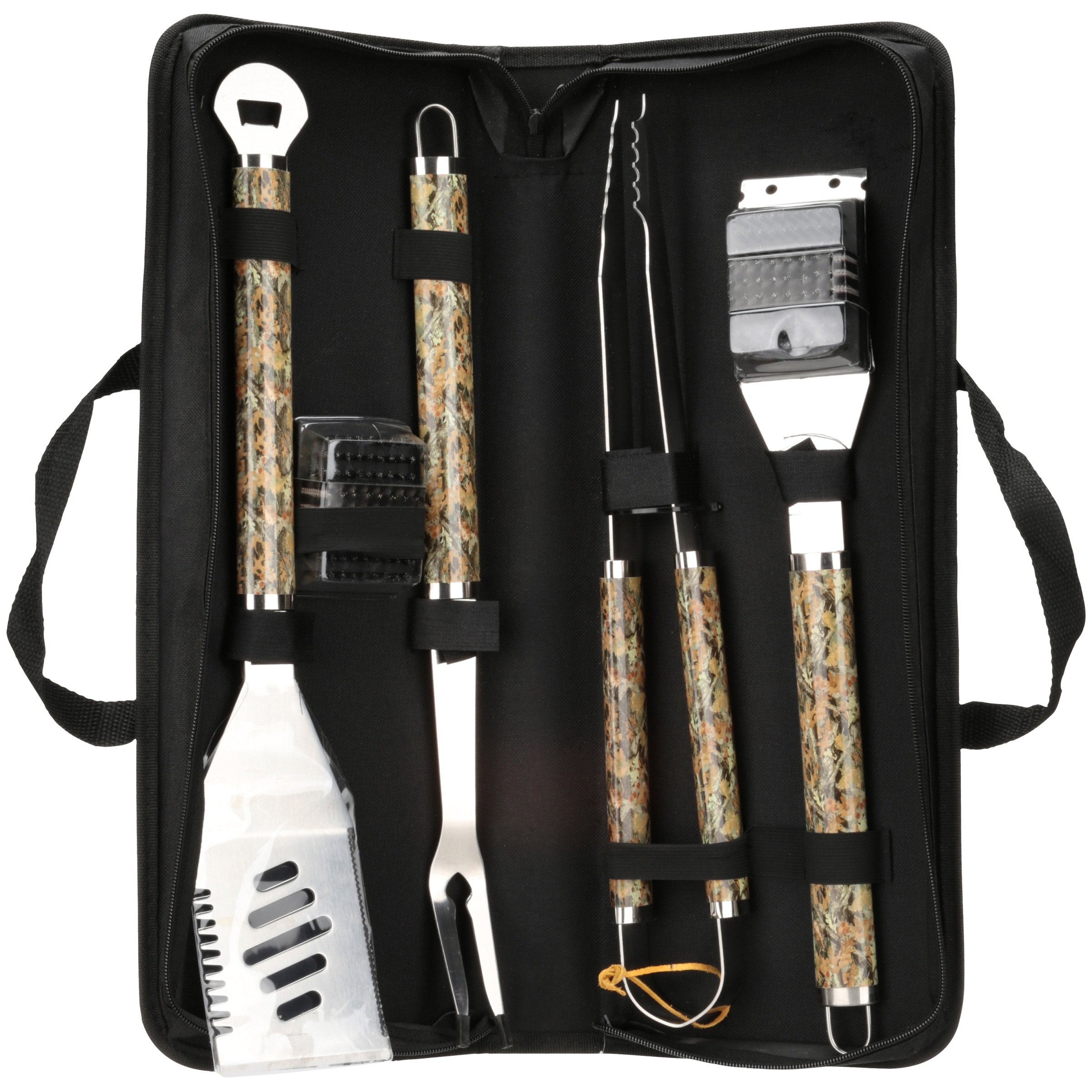 Camo-Q Barbecue Tool Set 6 pc Pack