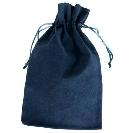 Visol Velvet Bag for Flask, Navy - Navy Blue Velvet Bag