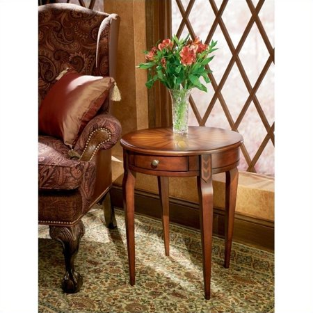 Beaumont Lane Round Wood End Table in Cherry