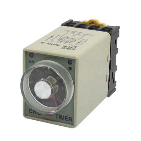 AC 380V 0-60 Minutes 8 Pin DIN Rail Delay Timer Time Relay w Base AH3-3 - image 1 de 1