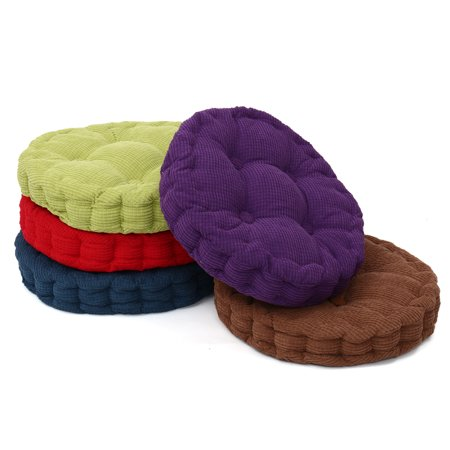 Bestller 18''x18'' Round Corduroy Chair Pad Cushion Thicker Patio Car Office Seat Sofa Tatami Mat ()