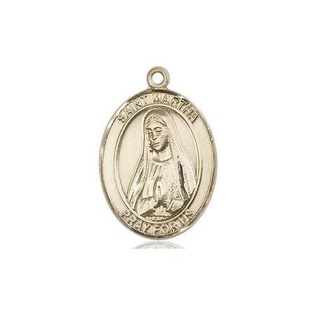 St. Martha Patron Saint Medal in 14 KT Gold (Martha Medal)