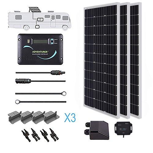 Renogy 320 Watt 12 Volt Solar RV Kit with Ultra Flexible Solar Panel,  Advanturer Controller, and BT Module