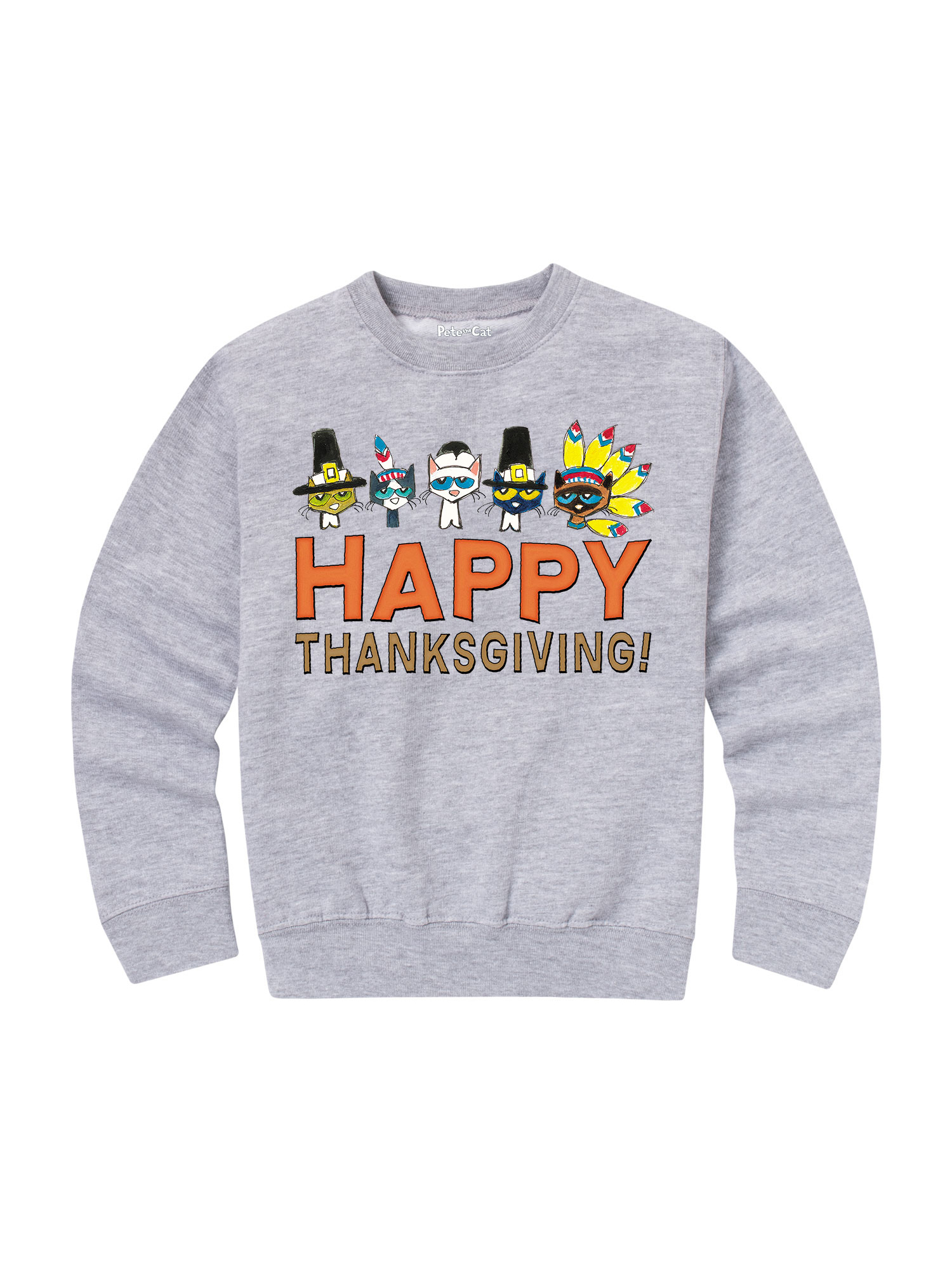 Pete The Cat Happy Thanksgiving! - Toddler Crew Fleece