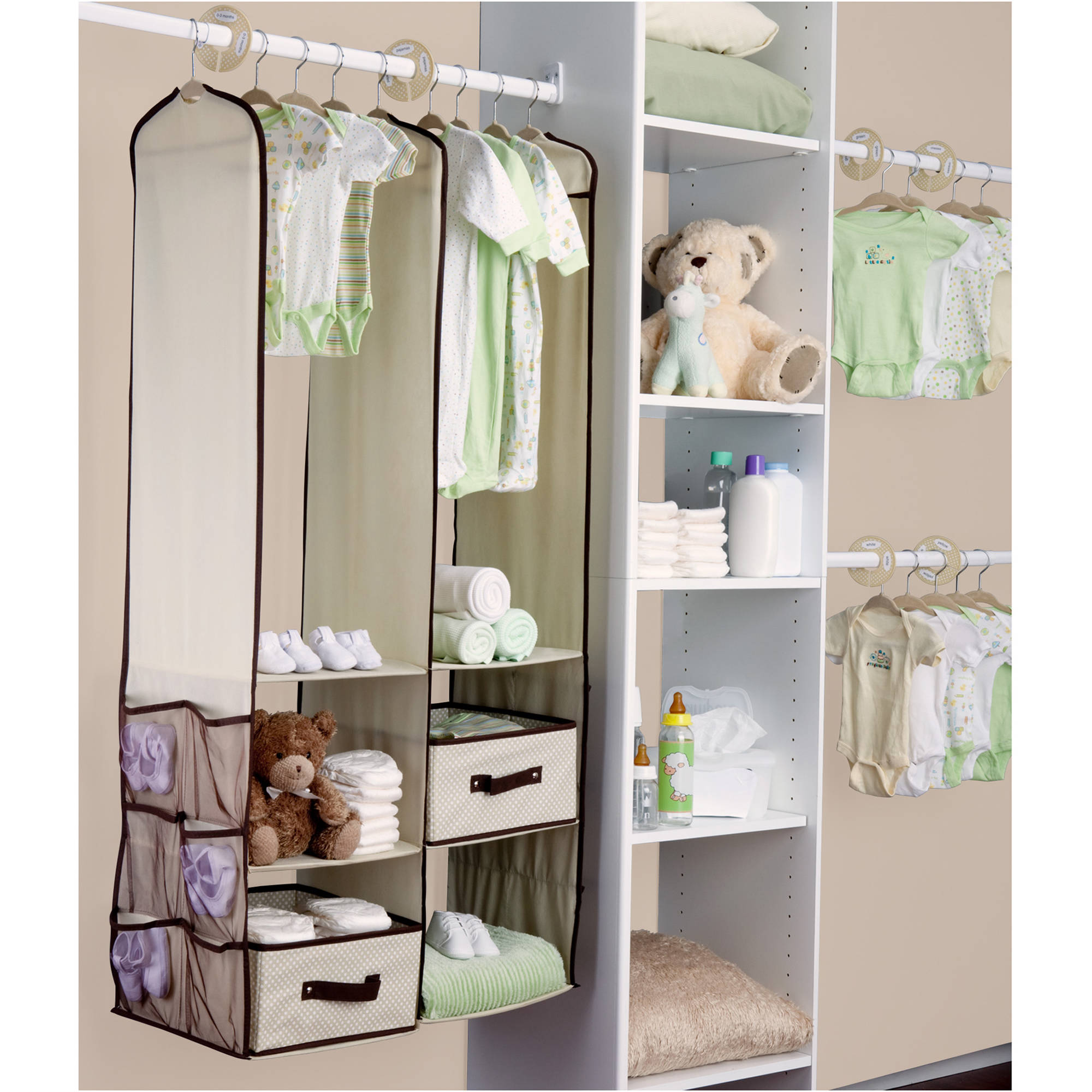 Delta - 24-Piece Nursery Closet Organizer, Choose Your Color