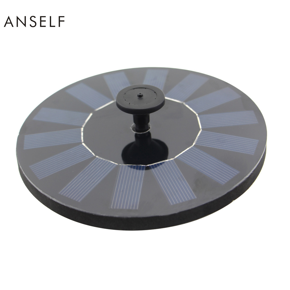 Anself 10V 5W Solar Powered Brushless Water Pump Built-in Storage Battery Submersible Pump Fountain by