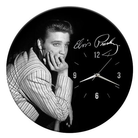 Vandor LLC Elvis Presley Cordless Wood 13.5'' Wall Clock