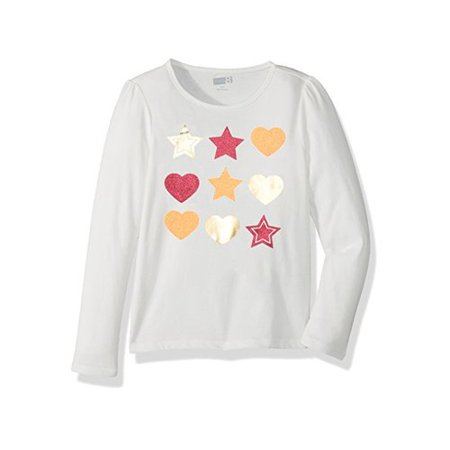 bb733e43bff7 Crazy 8 Toddler Girls' Her Li'l Long-Sleeve Graphic Tee, Stars Hearts, 6-12  Mo - Walmart.com