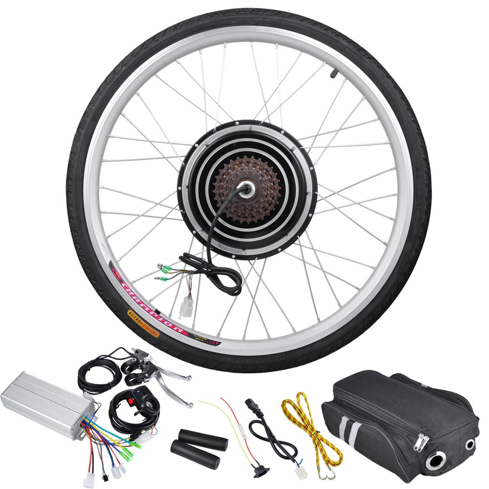 "26""x1.75"" Rear Wheel 36V 800W Electric Bicycle Motor Kit E-Bike Cycling Set Outdoor Gym Dual Mode Controller"