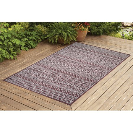 Benissimo Indoor / Outdoor Sisal Area Rug Restoration Collection Non-Skid, Woven, Durable, and Easy Cleaning | Machine Rug for Living Room, Kitchen, Garage, Kids room etc. | 5x7 | Brick ()