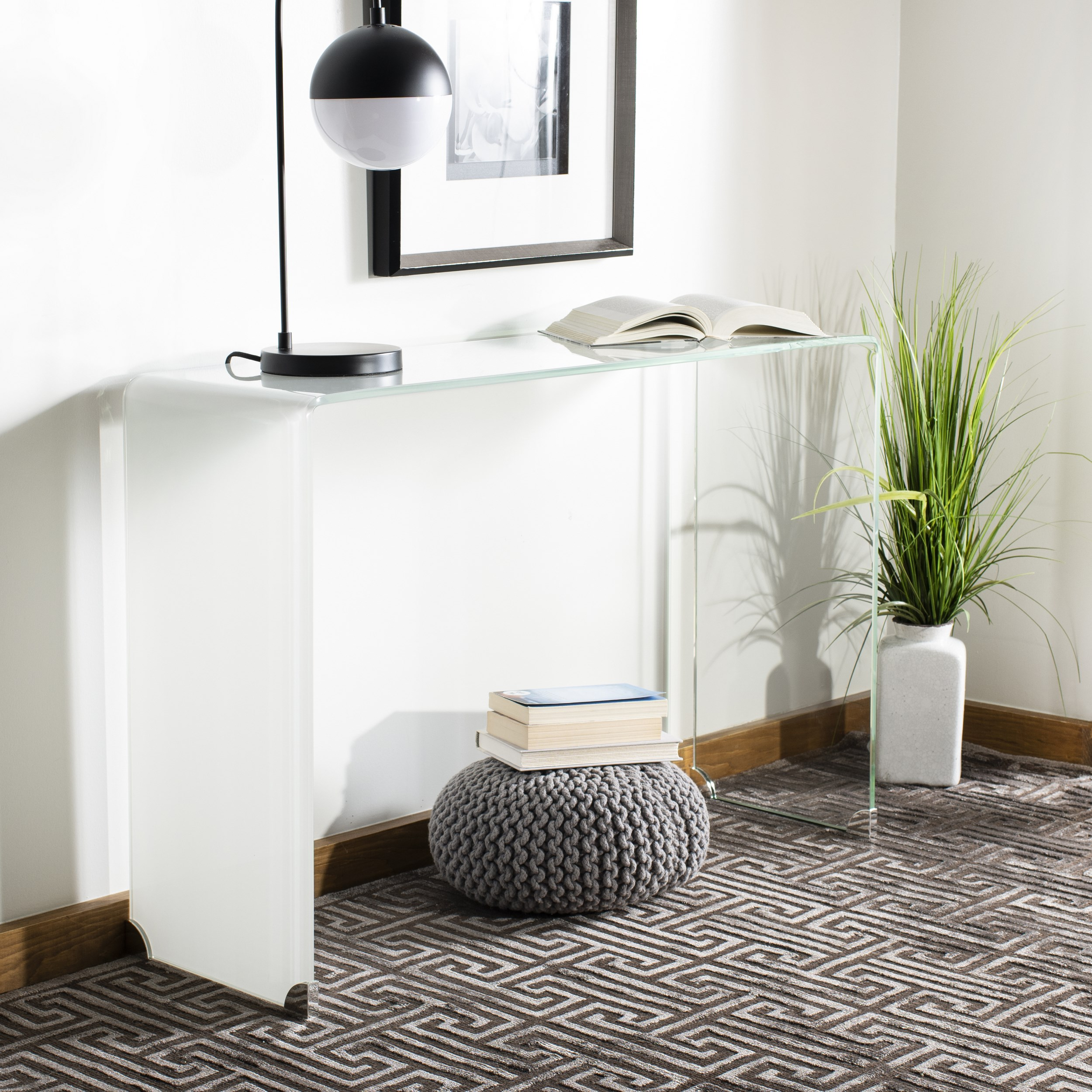 Safavieh Crysta Glam Ombre Glass Console Table