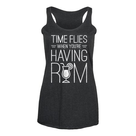 Time Flies When You're Having Rum  - Ladies Triblend Racerback