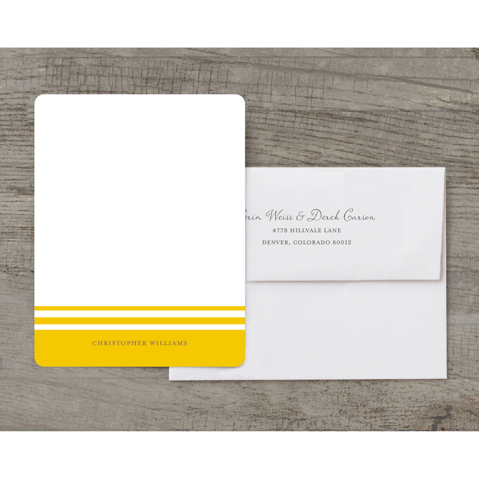 Striped Note Deluxe Notecard