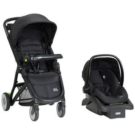 Safety 1st RIVA Ultra Lightweight Travel System Stroller with onBoard35 FLX infant Car Seat, Black
