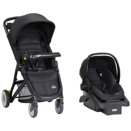 Safety 1st RIVA Ultra Lightweight Travel System Stroller With OnBoard35 FLX Infant Car Seat Black