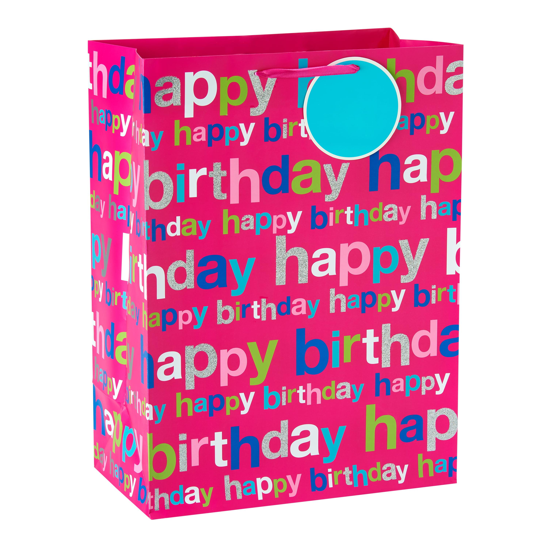 American Greetings Jumbo Happy Birthday Pink Gift Bag