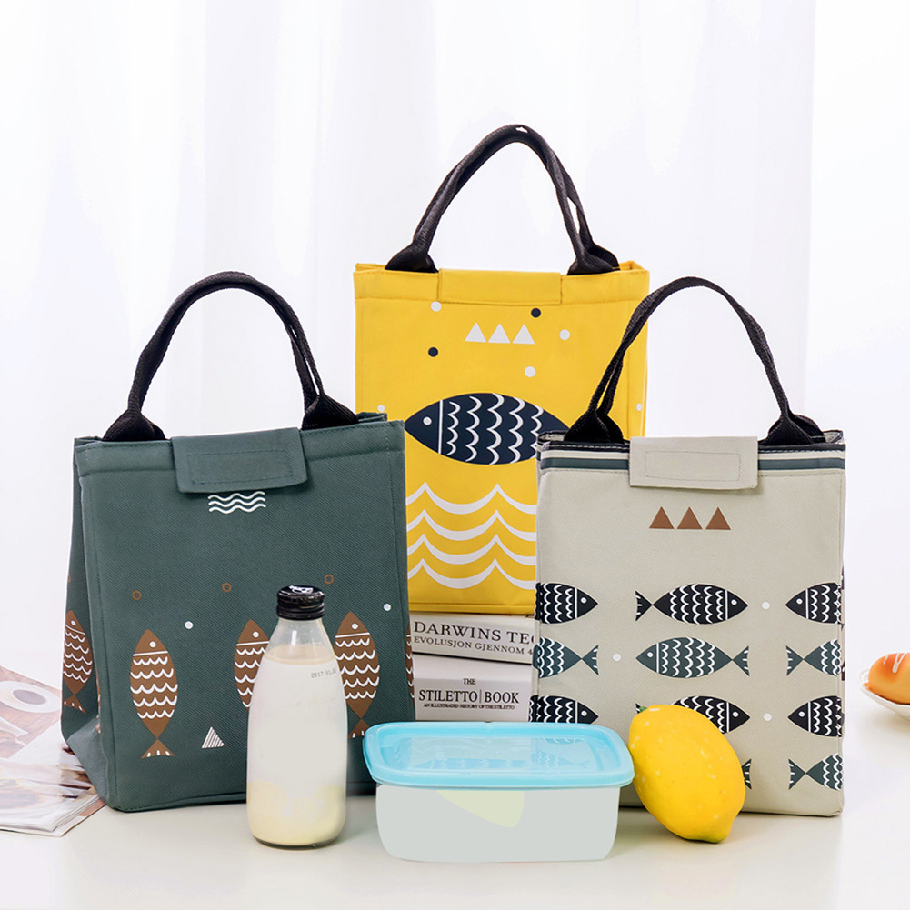 Moderna Cartoon Fish Portable Lunch Bag Box Storage Container Picnic Carry Totes Pouch