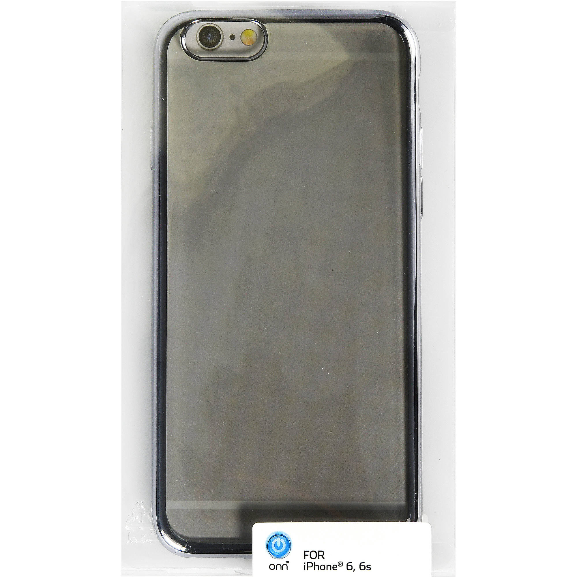Onn Translucent Case With Electroplated Edge For Iphone 6/6S, Soft Silver