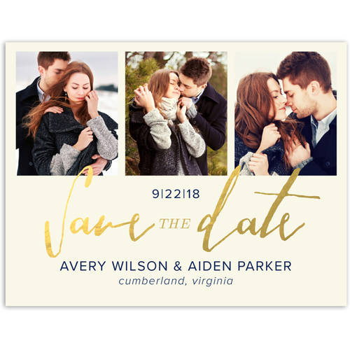 Script Knot Wedding Save the Date Postcard