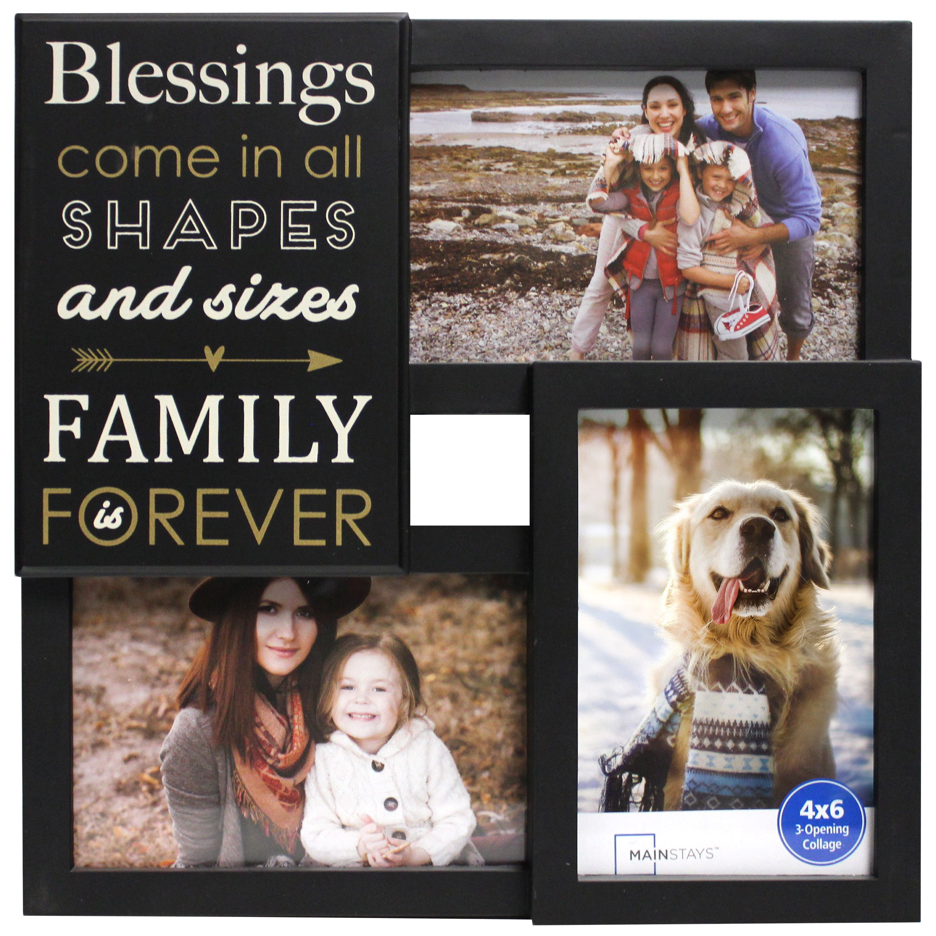 Mainstays 3-OP Sentiment Black Frame -  Blessings