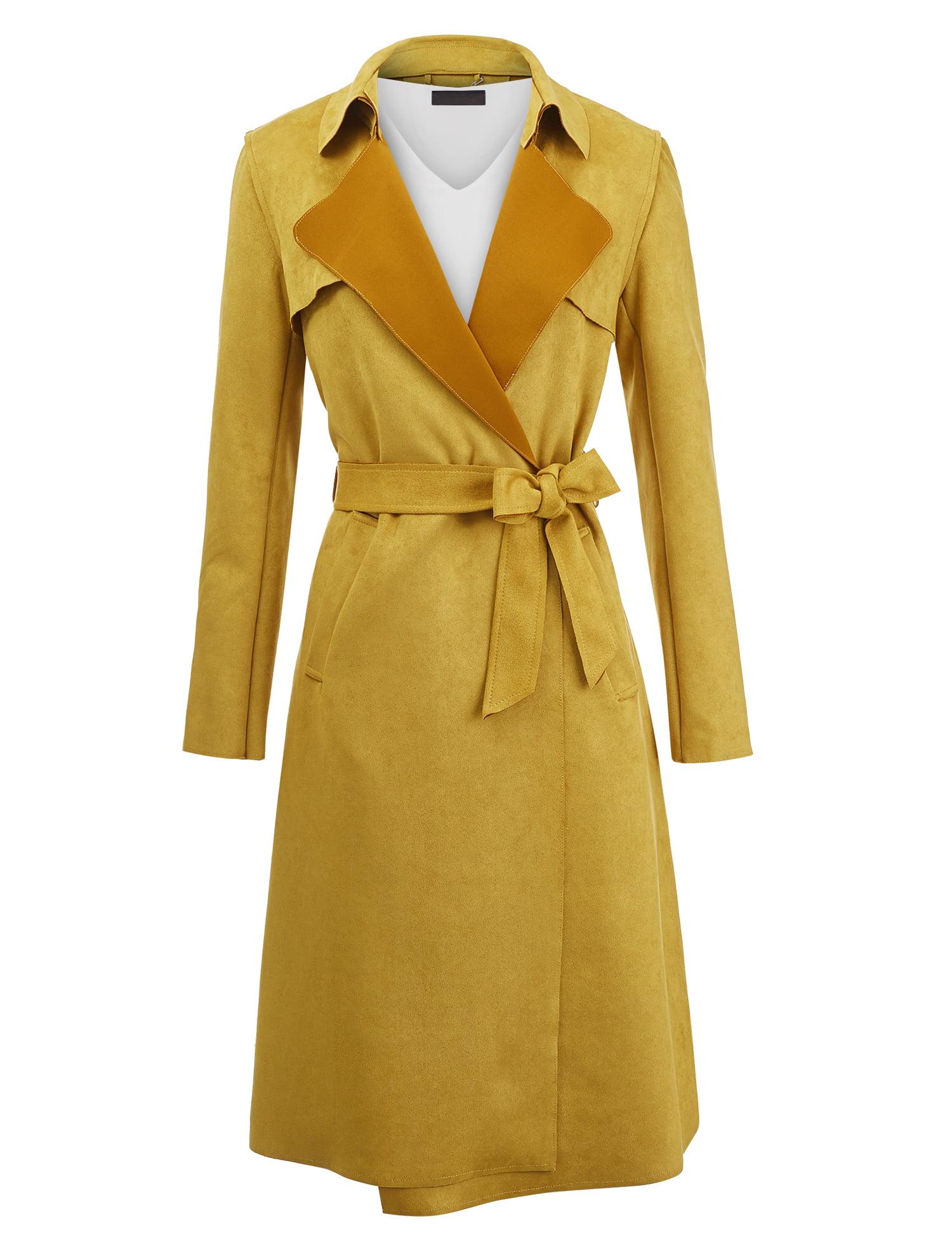 Golden Promise Equipment Woolen Leather Long Trench Coat