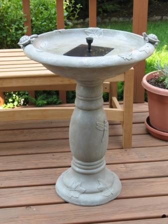 Smart Solar 20622R01 Country Gardens Solar Birdbath Fountain Gray Weathered Stone Finish Designed for Low Maintenance and Requires No Wiring or Operating Costs Renewed