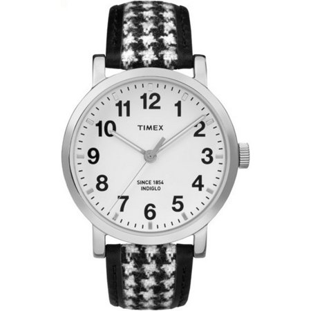 TW2P98800 Originals Women's Black Leather Band With White Dial Watch