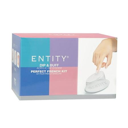 Entity Dip and Buff Perfect French Nails Acrylic Nail Powder Starter Kit Set