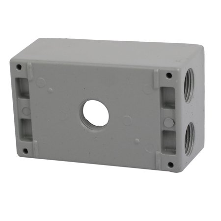 Wondrous 1 2Bsp 5 Thread Hole Single Gang Electrical Junction Outlet Box Wiring Database Lotapmagn4X4Andersnl