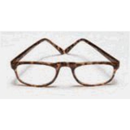 Reading Glasses 1 .50 Power, 0 .5 Eye Plastic Tort WireCo, Frame Size: (Power Glass For Eye)