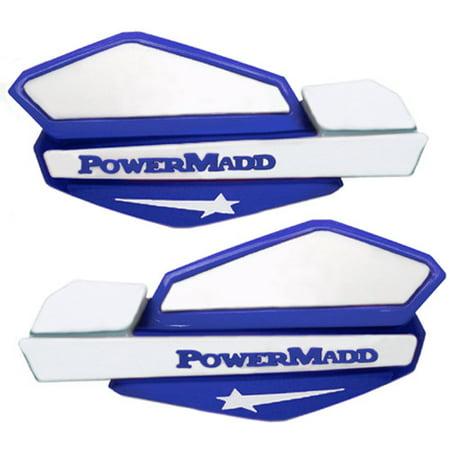 Powermadd Star Series Handguards, Blue/White