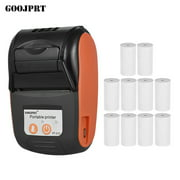 GOOJPRT PT-210 Portable Thermal Printer Handheld 58mm Receipt Printer for Retail Stores Restaurants Factories Logistics with 10 Rolls Thermal Paper