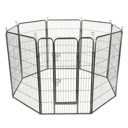 Gymax 48 8 Panel Pet Puppy Dog Playpen Door Exercise
