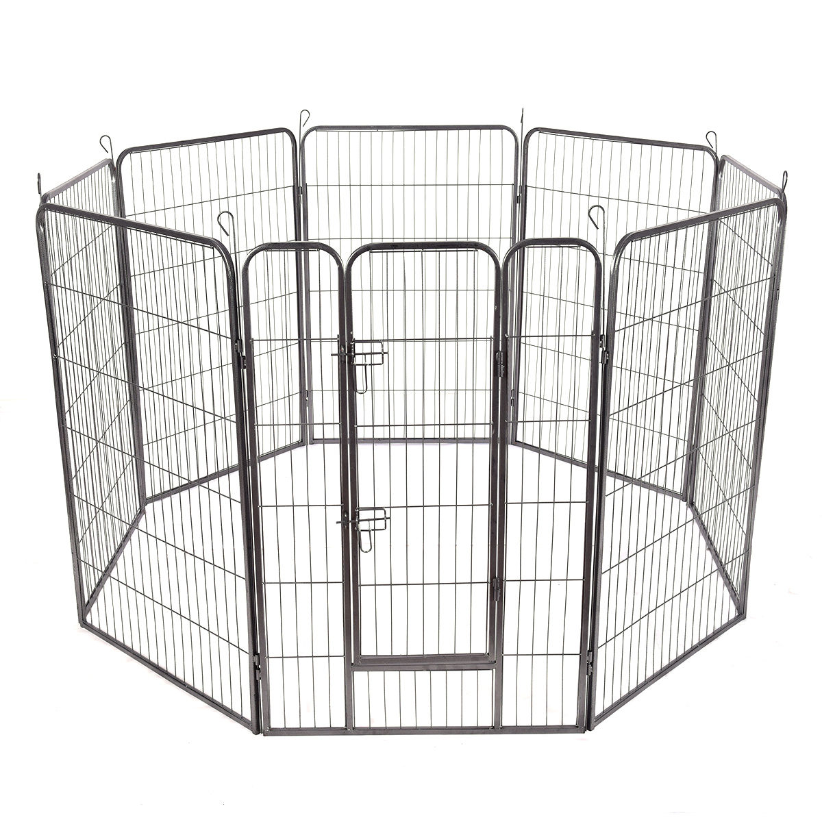 Gymax 48'' 8 Panel Pet Puppy Dog Playpen Door Exercise Kennel Fence Metal