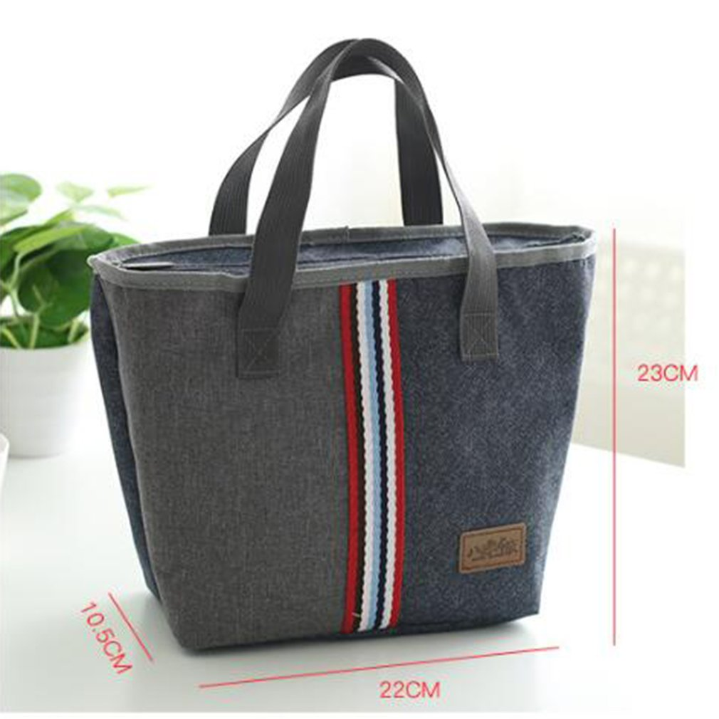 Waterproof Handbag Insulated Thermal Cooler Lunch Bag Food Container Bento Bag G