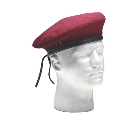 Ultra Force G.I. Style Wool Maroon Beret (Wear Army Beret)