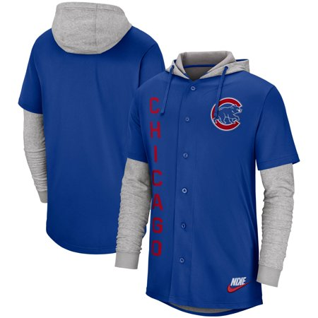 Chicago Cubs Nike Jersey Button-Up Hoodie - Royal
