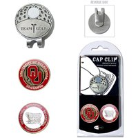 Team Golf NCAA Oklahoma Cap Clip With 2 Golf Ball Markers