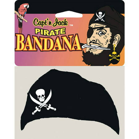 Pirate Jack Head Bandana Halloween Accessory - Pirate Hairstyles For Halloween