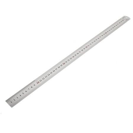 Unique Bargains Dual Side Metric 50Cm Stainless Steel Straight Measure Ruler 50Cm