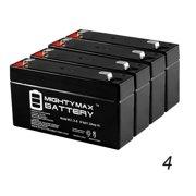 6V 1.3AH LifeLine H101 Communicator Medical Battery - 4 Pack