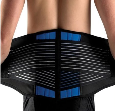 "Brand New Deluxe Neoprene Double Pull Lumbar Lower Back Support Brace Exercise Belt (XXXL (44-48""/112-122cm)) by NTC"