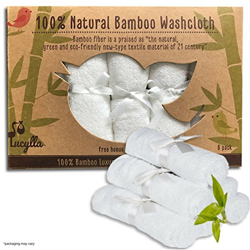 Baby Washcloths Ultra Soft Bamboo Wash Clothes for Face Perfect for Sensitive Skin and all Ages (Infant, Kids,... by Lucylla Sensitive