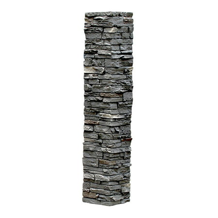 Faux Stone Halloween Tombstones (NextStone™ Faux Polyurethane Stone Post Cover Sleeve - Rundle)