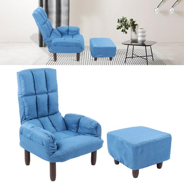 Garosa Armchair Simple Modern Armchair Set Dining Living Room Sofa Chairs With Footstool Home Furniture Accessories Furniture Accessories Walmart Com Walmart Com