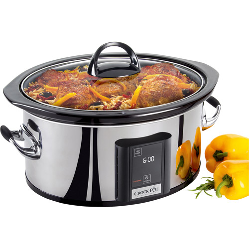 Crock-Pot 6.5-Quart Programmable Slow Cooker, Stainless Steel, SCVT650-PS-A