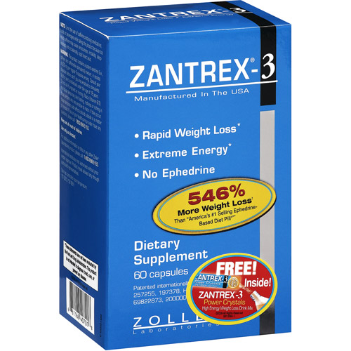 Zantrex-3 Dietary Rapid Weight Loss Supplement - 60ct
